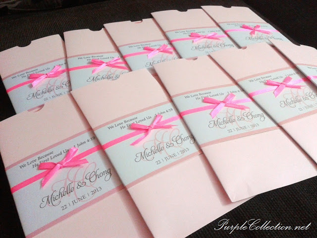Peach Pink Pocket Wedding Card, Peach, pink, peach pink, pocket card, pocket wedding card, wedding card, pink wedding card, peach wedding card, 10 x 21cm, pearl pink