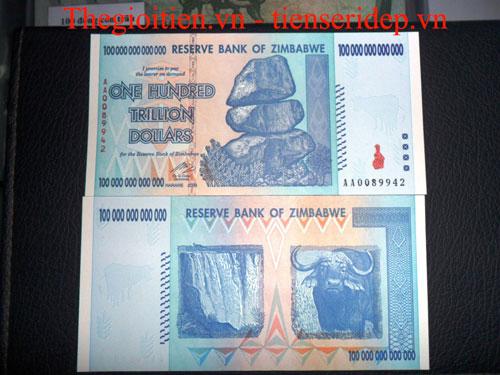 tiền zimbabwe 100 nghìn tỷ
