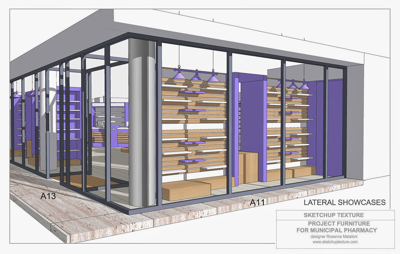 How to design a modern pharmacy 3d sketchup model for Modern pharmacy design