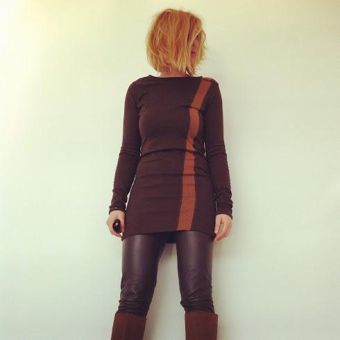langes shirt/kurzes kleid, braun