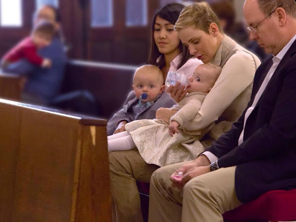 Monaco Princely Family Attended The Sunday Service
