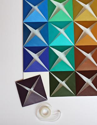Membuat Hiasan Dinding Dari Kertas Lipat 4