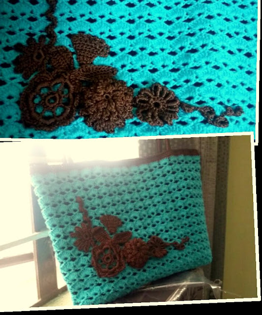 crochet designer bag