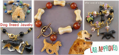 Dog Breed Jewelry Gifts at For Love of a Dog are Lab Approved