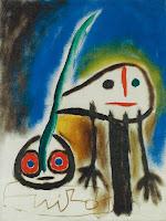 JOAN MIRÓ  Oiseau s'enfuyant - 1959
