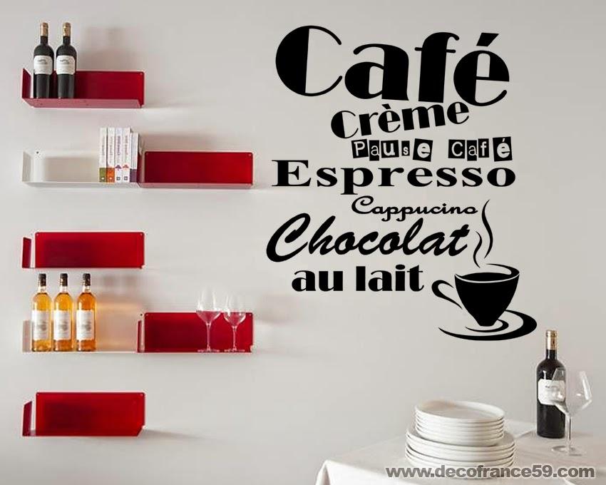 Decofrance59 vente en ligne de stickers muraux - Stickers rouge cuisine ...