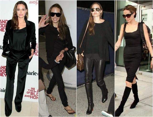 Gemini Style, Angelina Jolie all black outfits