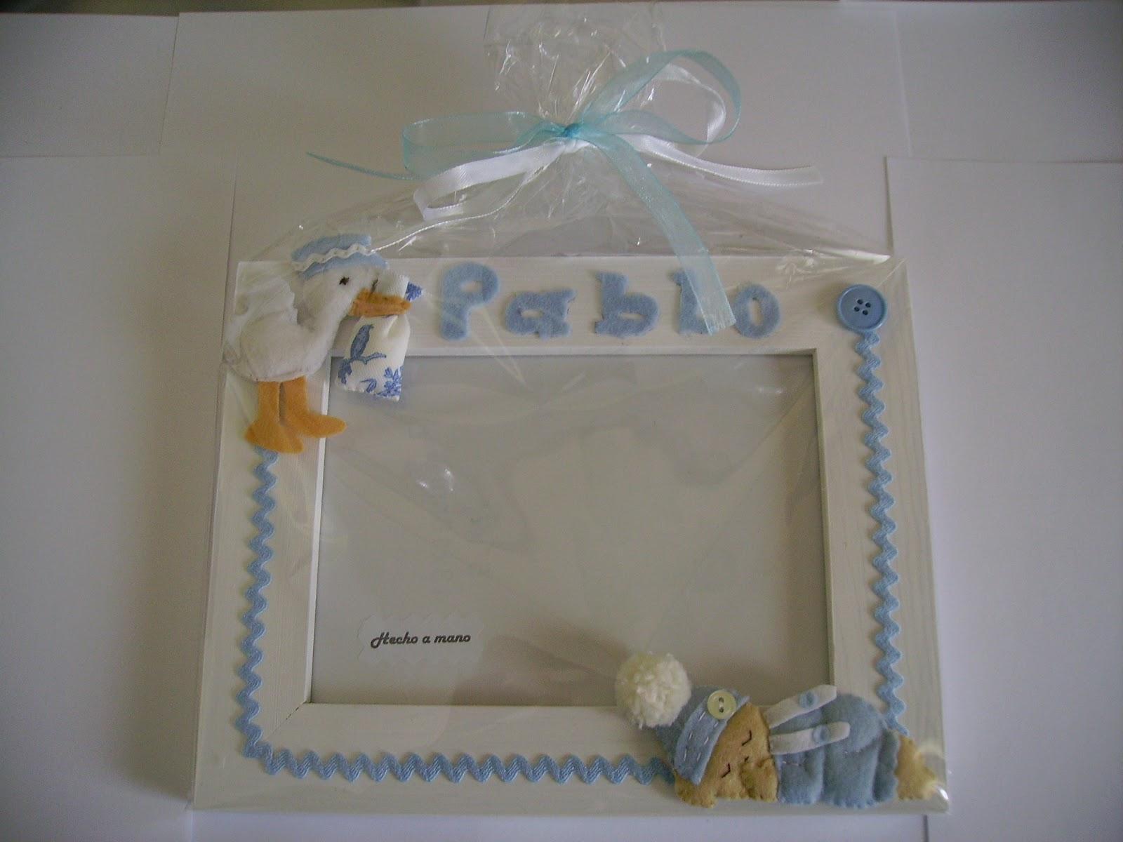 Complementos chulis de fieltro: Marcos bebé personalizados