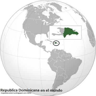 Localización de Republica Dominicana en el mundo