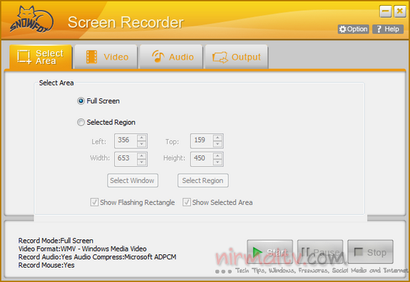 Gratisan SnowFox Screen Recording Tool