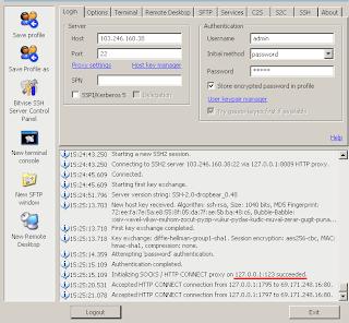BV4 Cara Internet gratis menggunakan ssh