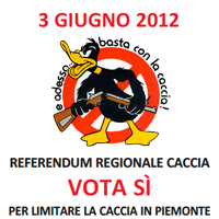 3 giugno 2012 - Referendum regionale caccia