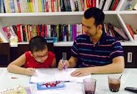 Nguyễn Trọng Thơ học toán cùng con