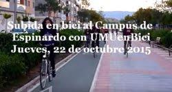 Subida en bici al Campus con UMUenBici