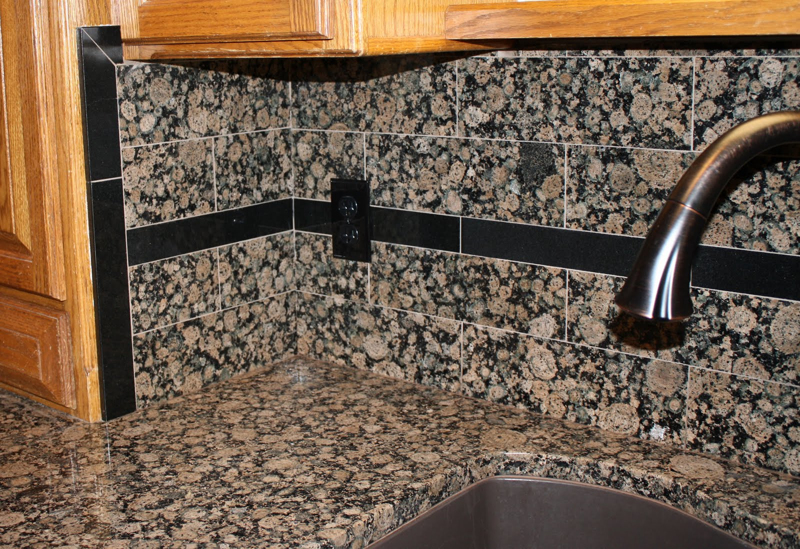 Kitchen Backsplashes with Baltic Brown Granite