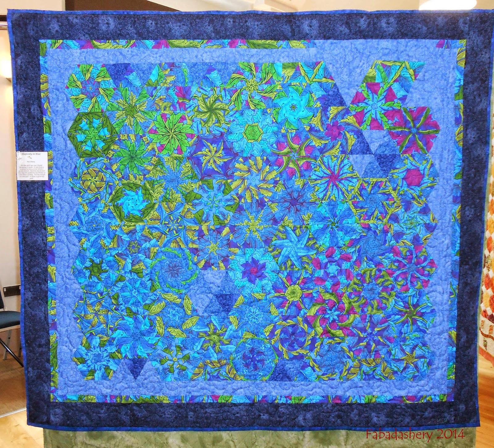 'Rhapsody in Blue' by Pat Cleary (One Block Wonder Quilt)