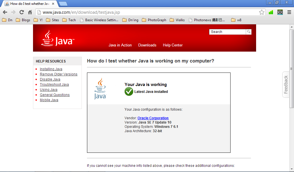 Java-Buddy: How do I test whether Java is working?
