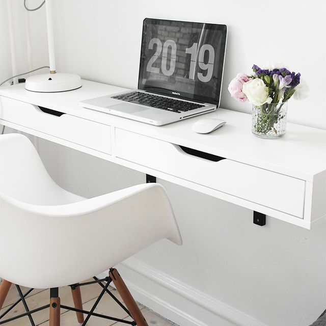 wall mounted desk space using the lifestyle wall from rooms made for you