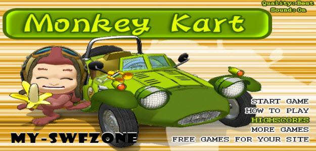 monkey kart full free gratis, monkey kart flash game, monkeykart.swf game