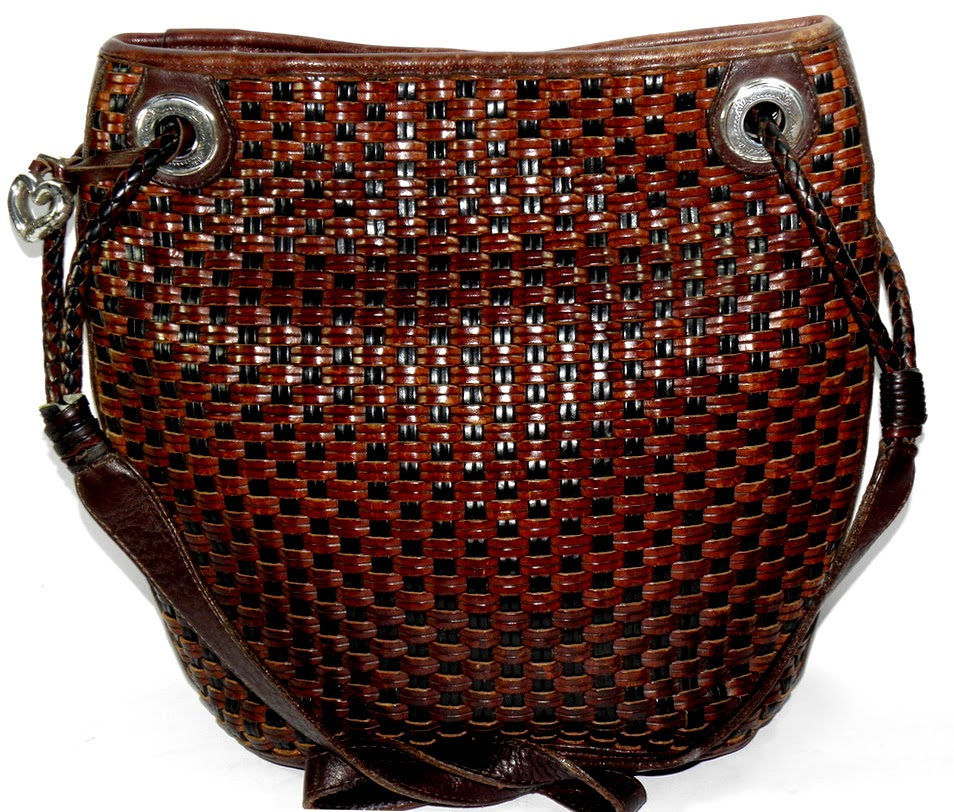 Brown Vintage Brighton Basketweave Purse