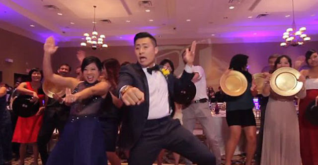 Couple manages to film the whole wedding dance video in one take
