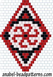 серьги ромбы бисер схемы бисероплетение славянские орнаменты