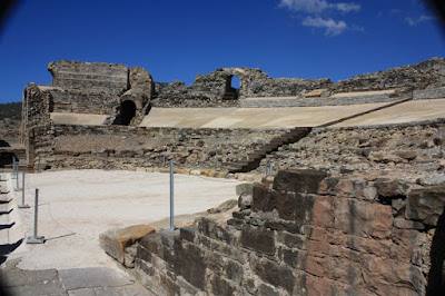 Amphitheatre in Baelo Claudia near Bolonia beach in Cádiz