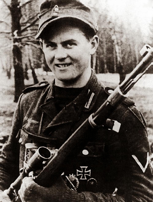 Matthäus Hetzenauer, Austrian sniper with 345 confirmed kills, 1944.