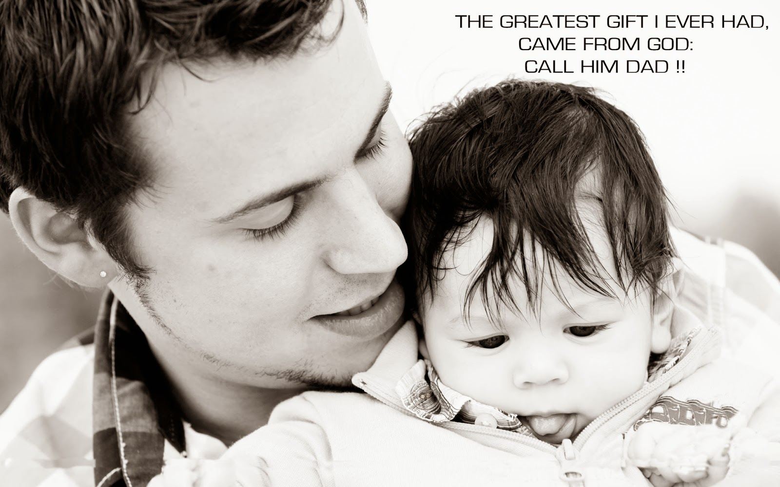 fathers day 2014 hd wallpaper with baby
