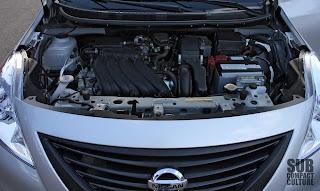 2012 Nissan Versa's 1.6-liter engine