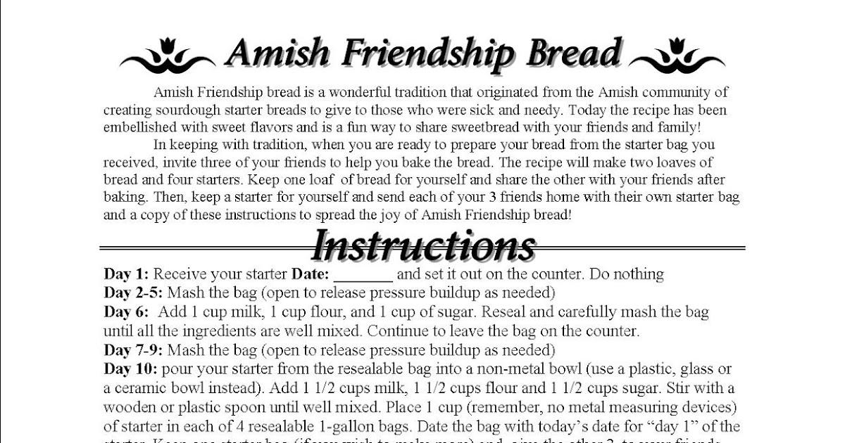 Just A Bunch Of Random Scrap Amish Friendship Bread