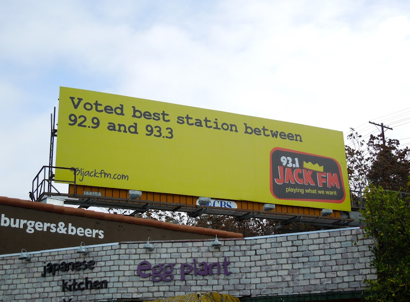 Jack FM Voted best station billboard