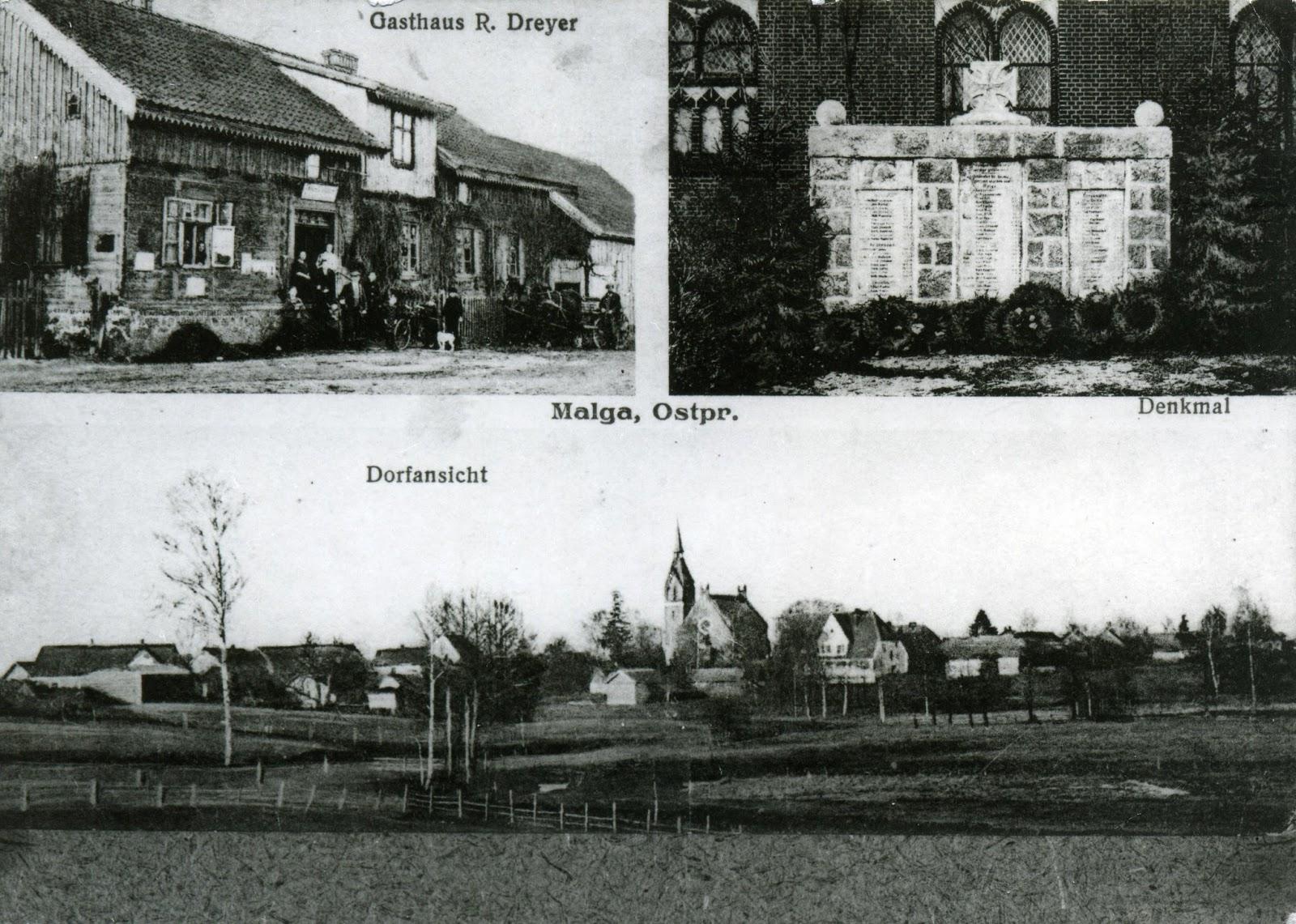 Wieża kościelna i cmentarz - pozostałość po mazurskiej wsi Małga