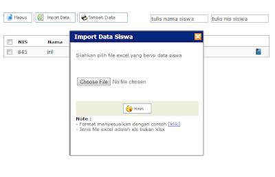 SMS gateway + addon SPP (import siswa)