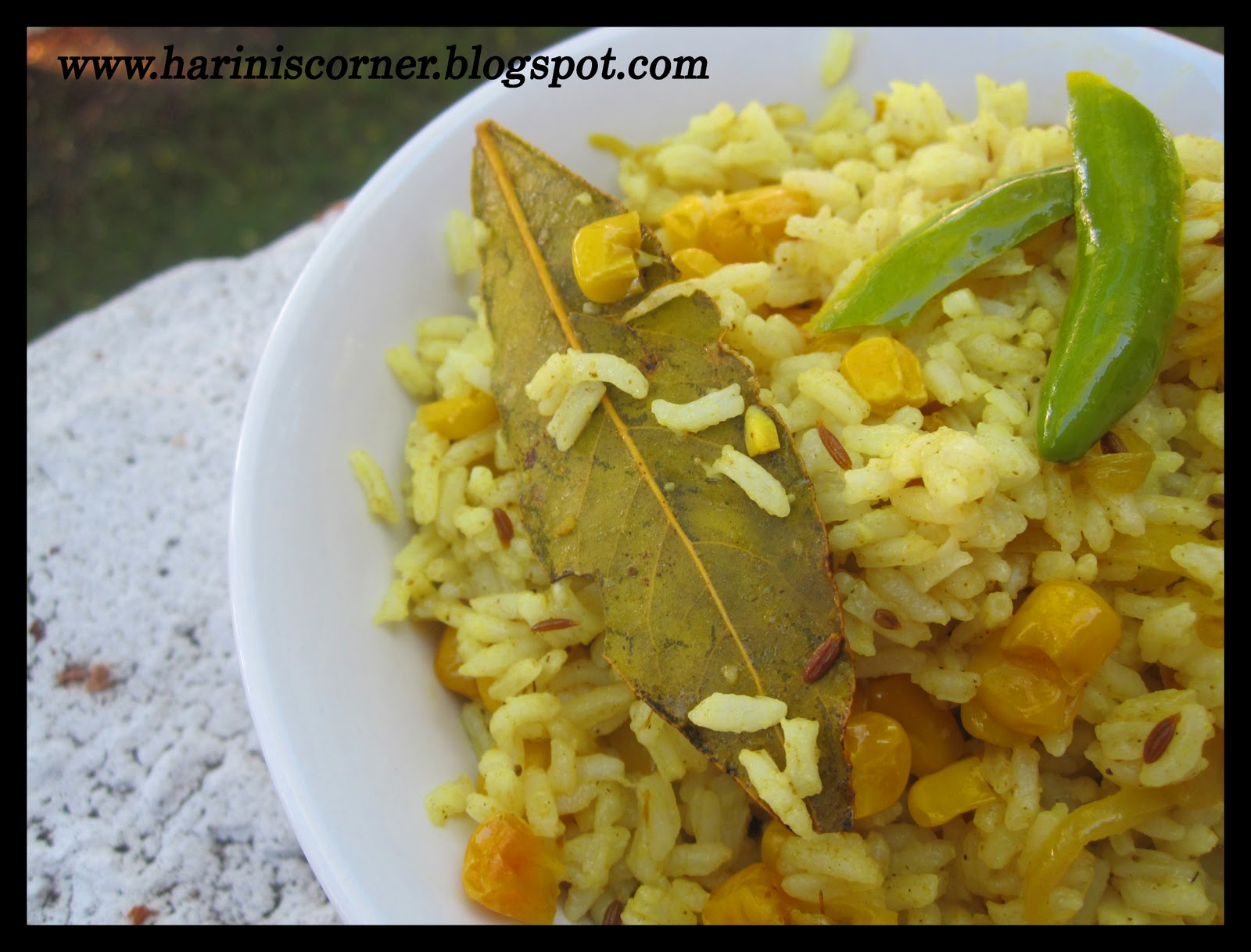 Sugar spice sweet corn rice add the rice and fold without breaking the rice so that the paste mixes well with the rice cook for a minute fry the cashews in ghee and garnish ccuart Choice Image