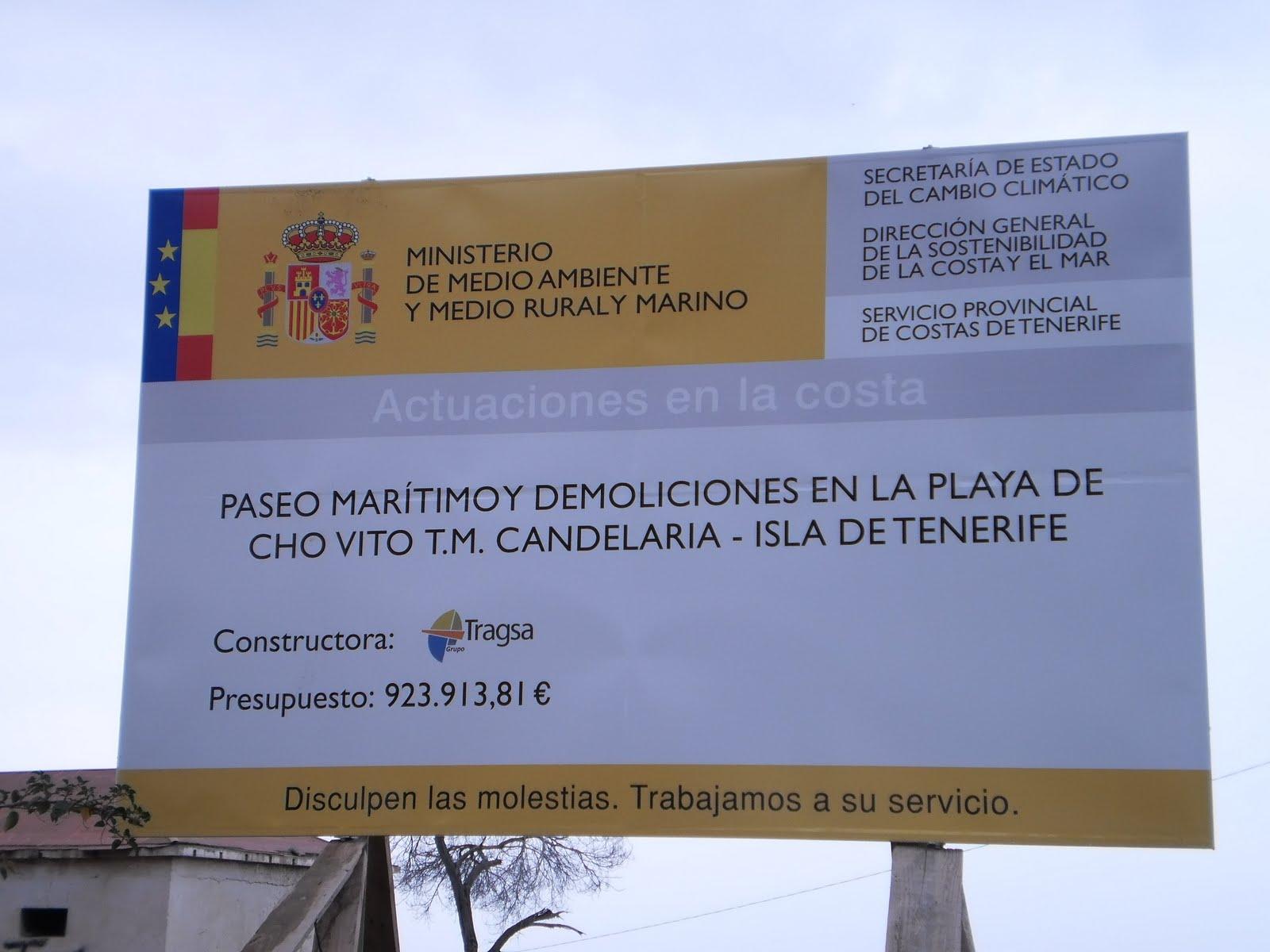 Carteles De Obra En Fabulous Esta Maana Colocaron En El Puente  # Tazacorte Muebles Srl