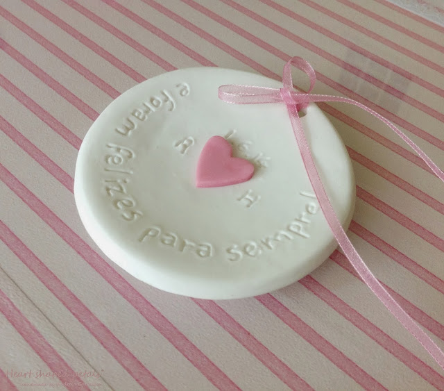 Ring bearer dish with pink heart