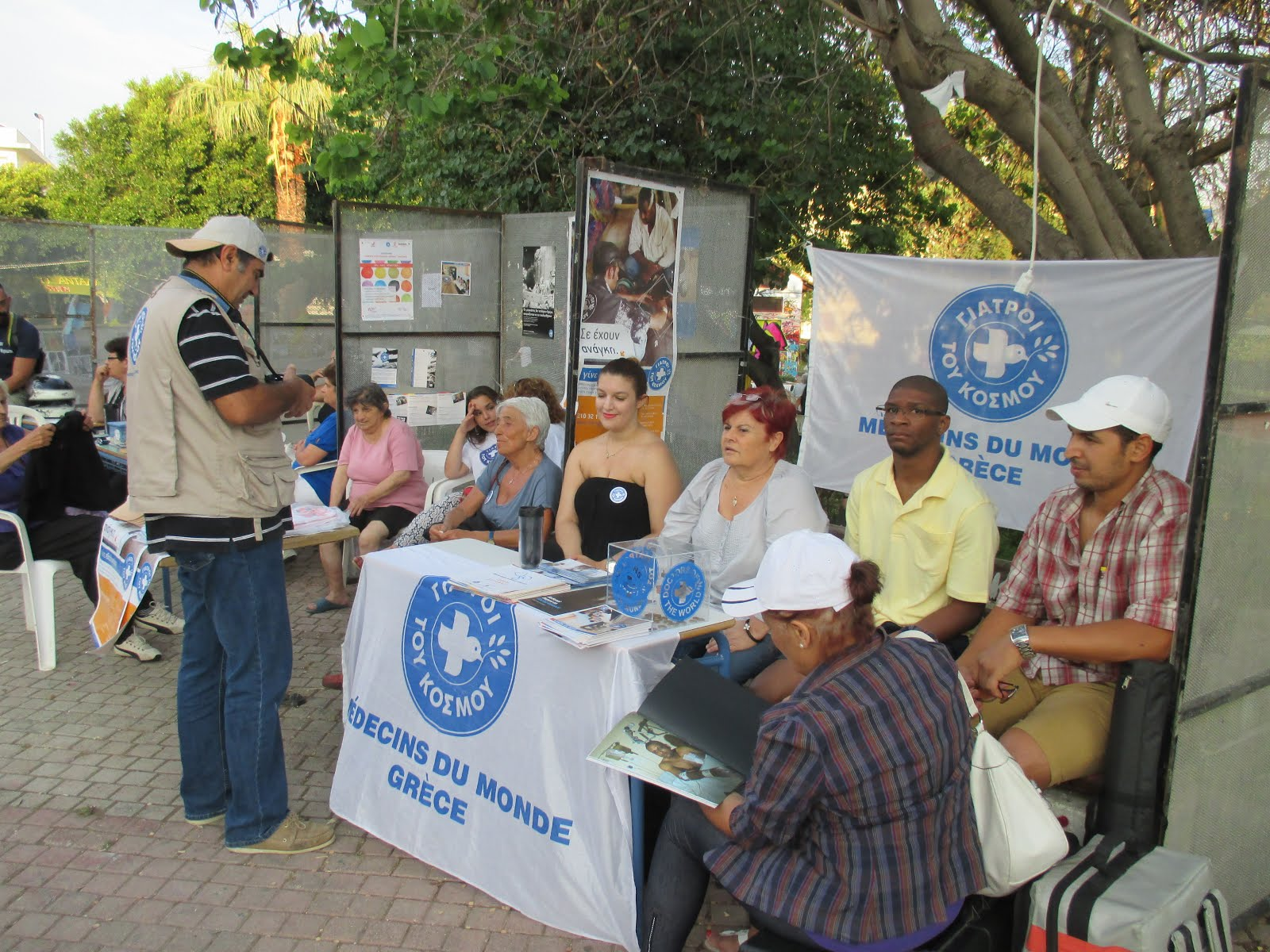 Doctors of the World at the Anti-Racist Festival, Chania, Crete, June 2015