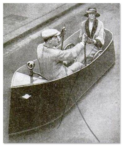 10 Inovasi Transportasi Tempo Dulu Terkonyol di Dunia: Perahu Darat (1924)
