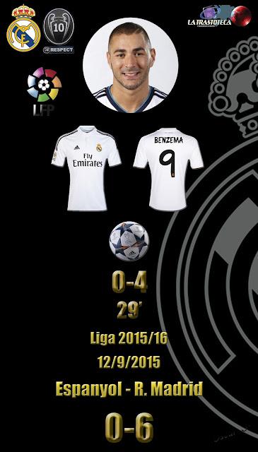 Bencema (0-4) - Espanyol 0 - 6 Real Madrid - Liga 2015/16 - Jornada 3 - (12/9/2015)