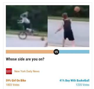 Screenshot of poll