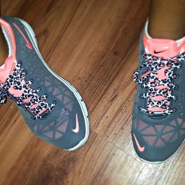 Pink And Grey Sport Shoes