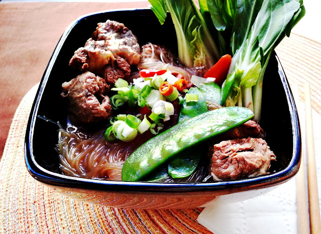 oxtail stew with glass noodles