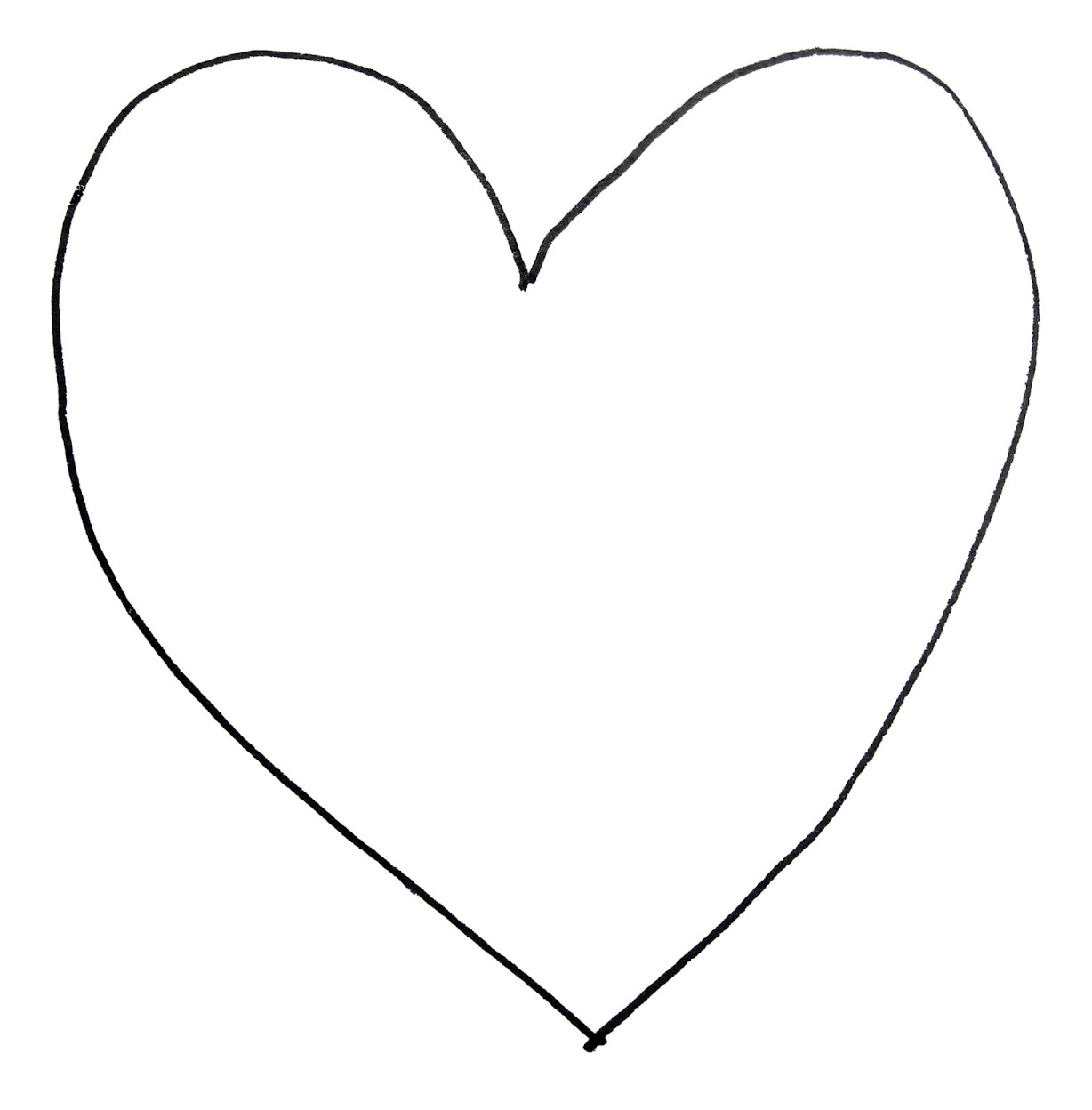 Heart shaped flag coloring pages