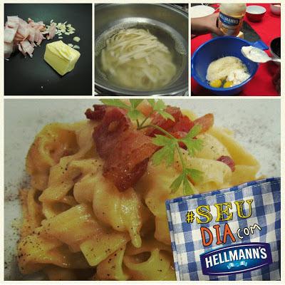 adaptação de receitas, receitas italianas, receita de carbonara, dica de receitas sem leite, receitas para pessoas com intolerância a lactose, receitas com Hellmann's