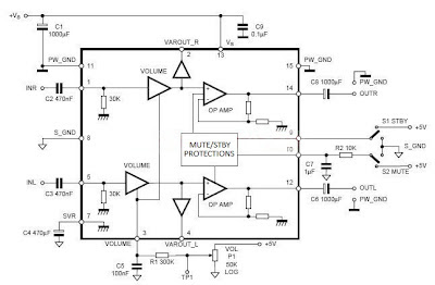 TDA7496 Low Noise Power Amplifier Circuit