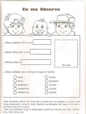 Projeto Identidade Educa    O Infantil Atividades