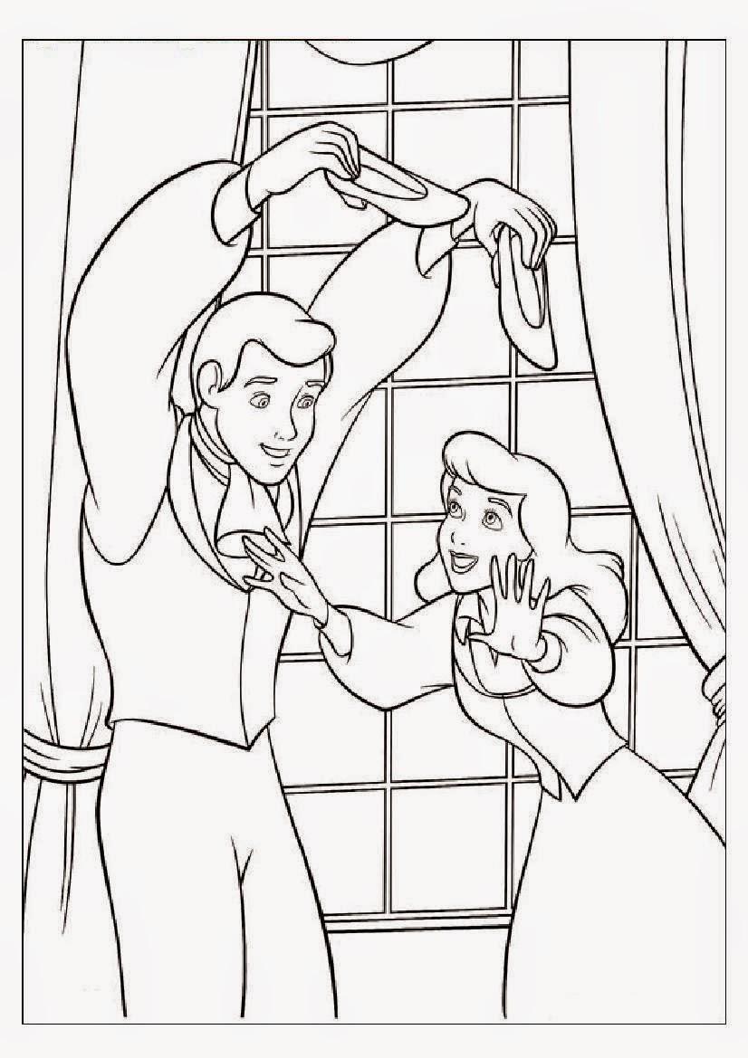 Coloring Pages Wedding Princess