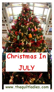 Christmas in July quilt pattern sale at The Quilt Ladies