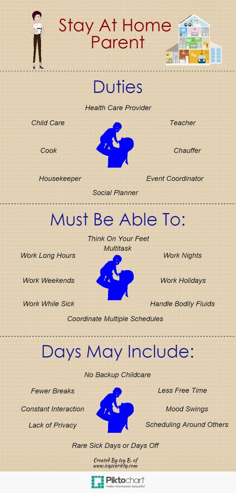 stay at home mom infographic